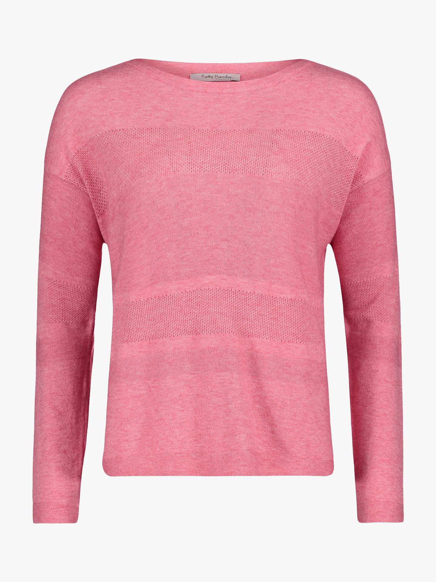 BuyBetty Barclay Crochet Panel Jumper, Bright Pink Melange, 14 Online at johnlewis.com