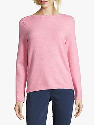 Betty Barclay Button Trim Jumper, Light Rose Melange