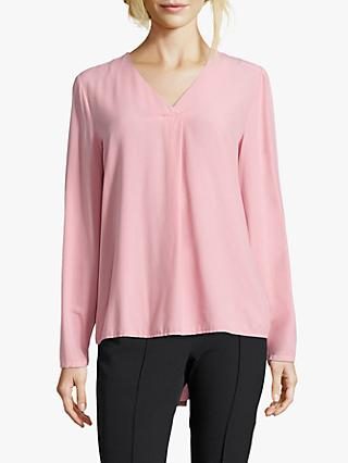 Betty Barcley V-Neck Blouse, Sea Pink