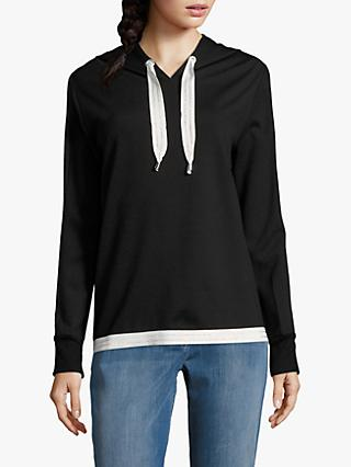 Betty Barclay Hooded Sweatshirt, Black/Cream