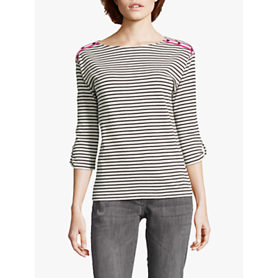 Betty Barclay Striped Top, Black/Cream