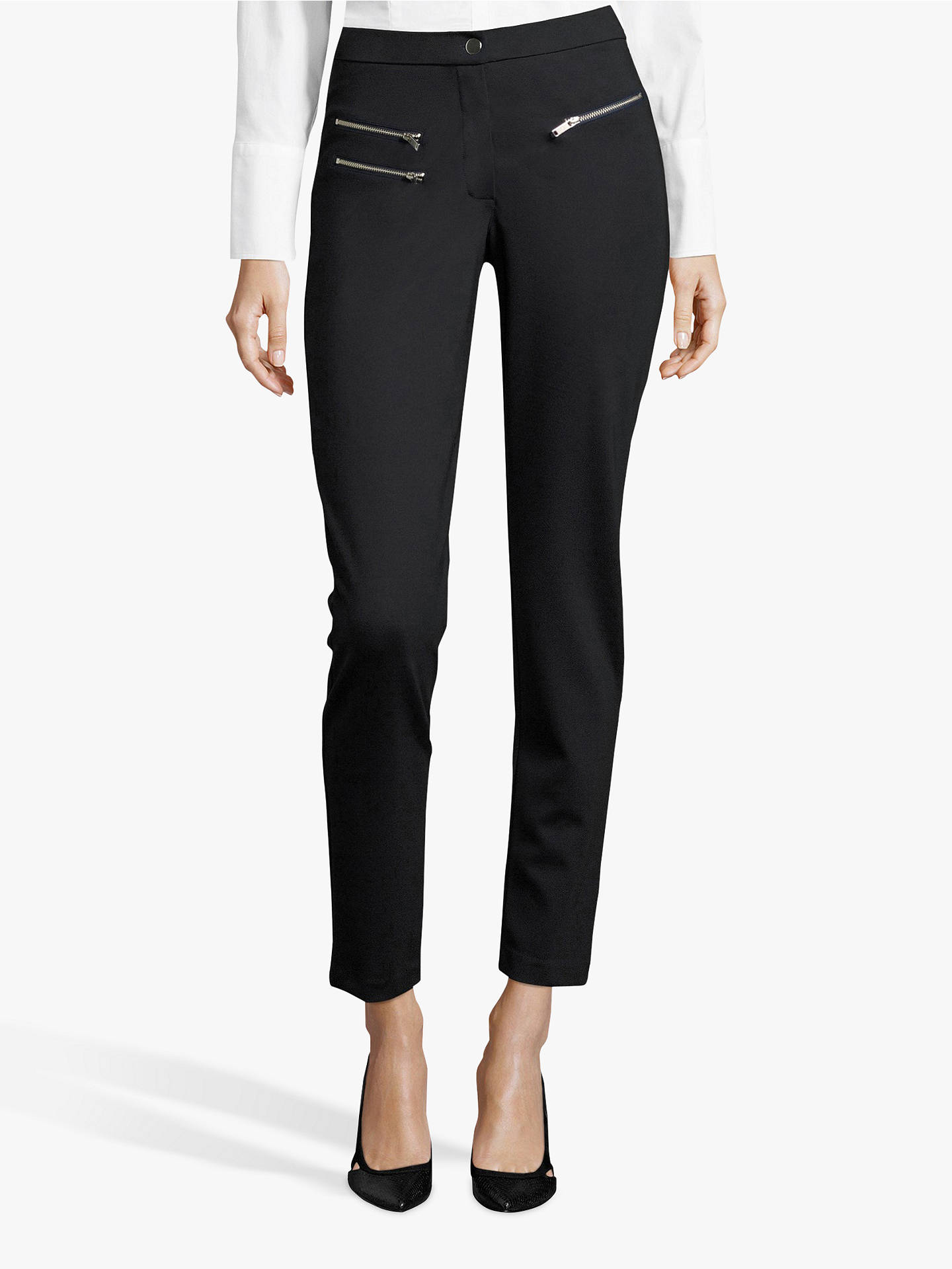 Buy Betty Barclay Skinny Zip Detail Jersey Trousers, Dark Sky, 18 Online at johnlewis.com