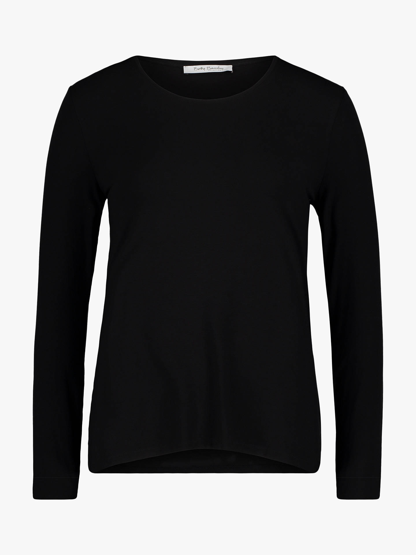 Buy Betty Barclay Long Sleeve T-Shirt, Black, 18 Online at johnlewis.com