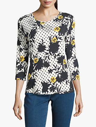Betty Barclay Embellished Top, Dark Blue/Cream
