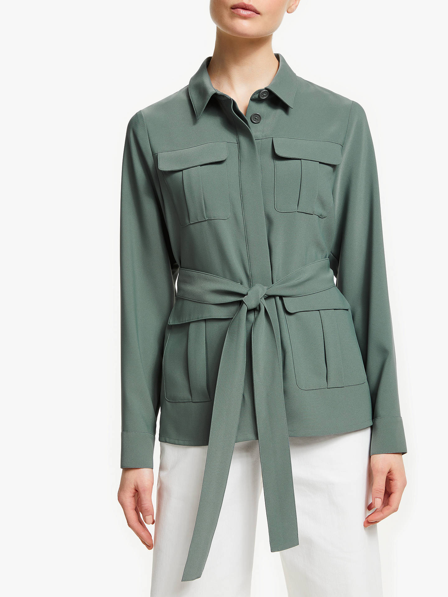 Buy John Lewis & Partners Safari Utility Jacket, Green, 8 Online at johnlewis.com