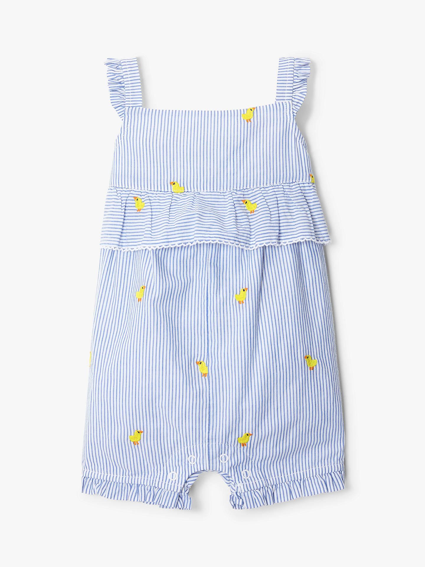 738bd5fb51 BuyJohn Lewis   Partners Baby Duck Embellished Stripe Romper