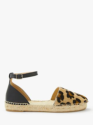 AND/OR Lucy Espadrille Sandals, Leopard/Multi