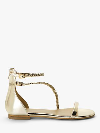 AND/OR Lori Leather Sandals, Gold