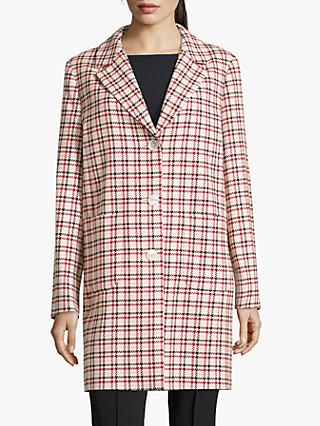 Betty Barclay Check Coat, Rosè/ Red