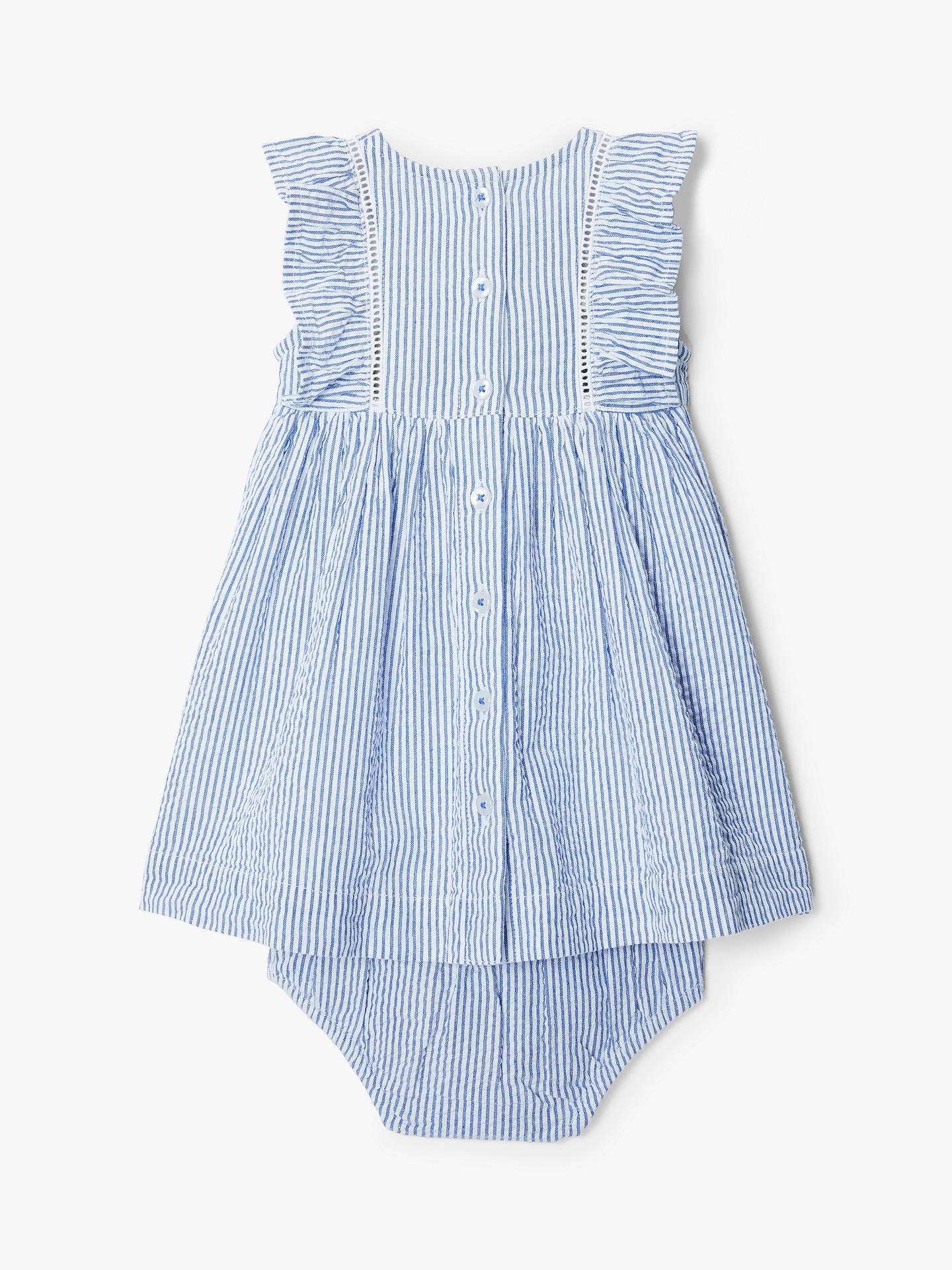Buy John Lewis & Partners Baby Bunny Stripe Dress and Knickers Set, Blue, 18-24 months Online at johnlewis.com