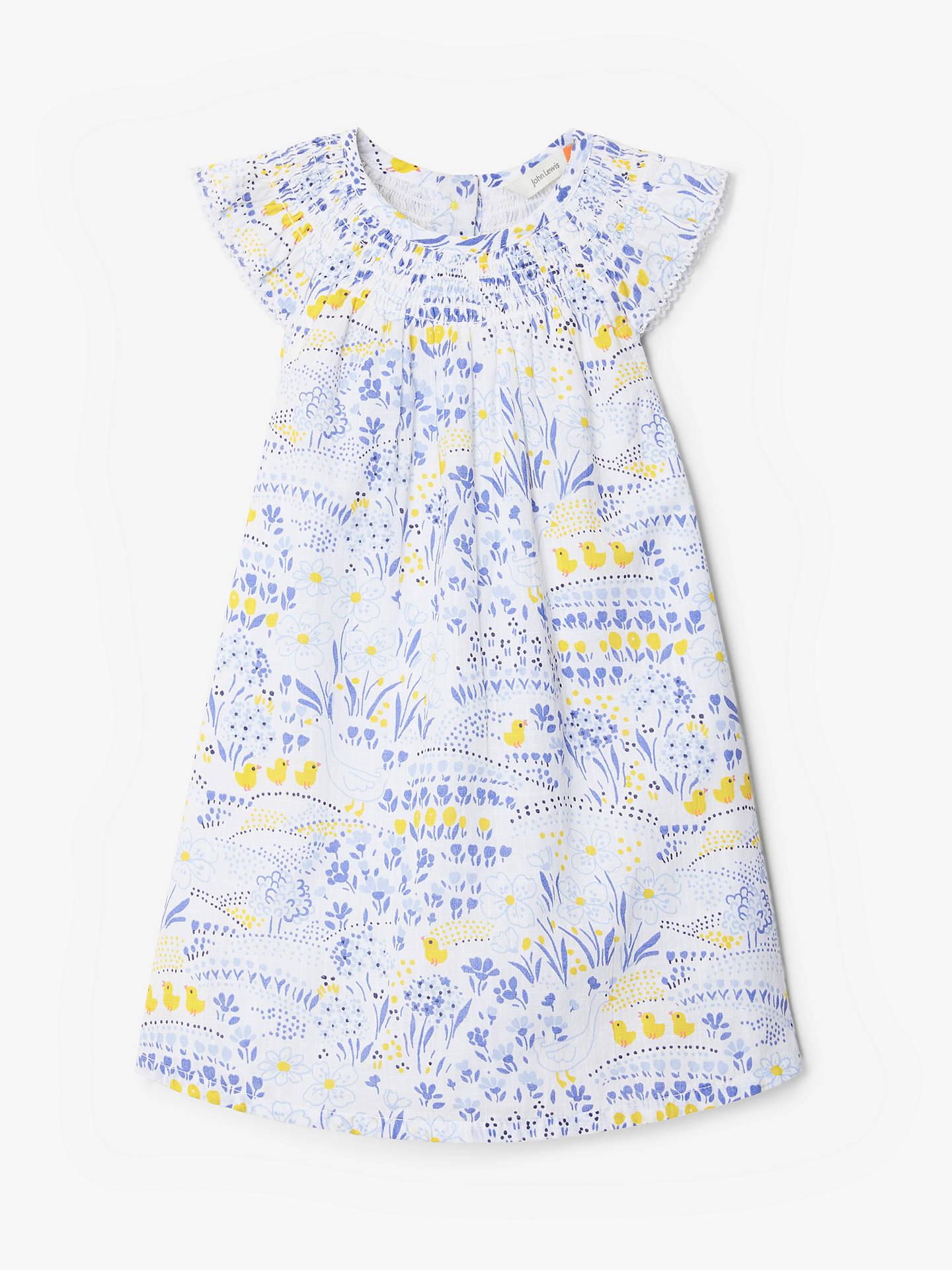 cd732885e341c John Lewis & Partners Baby Easter Scene Smock Dress, Multi
