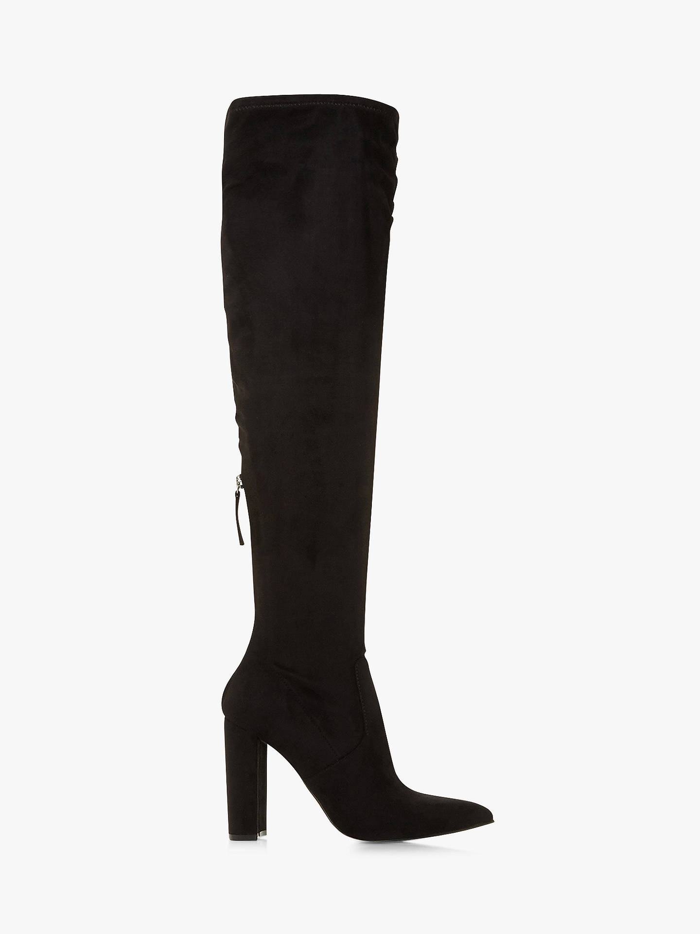 40b2d2707e8 Steve Madden Vent SM Over the Knee Boots, Black at John Lewis & Partners