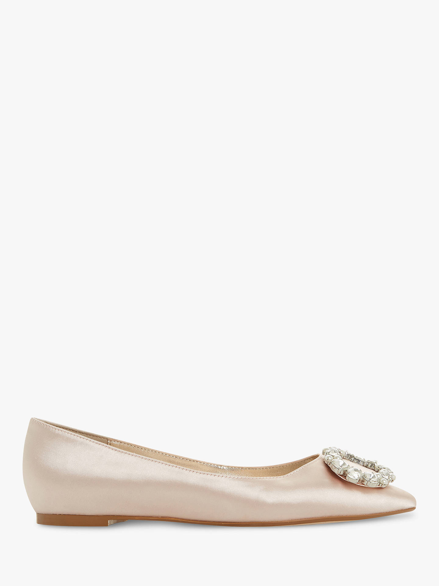 Toe Pumps At Embellished Adoreable Ballet Pointed Satin Dune Nude wUSqHW