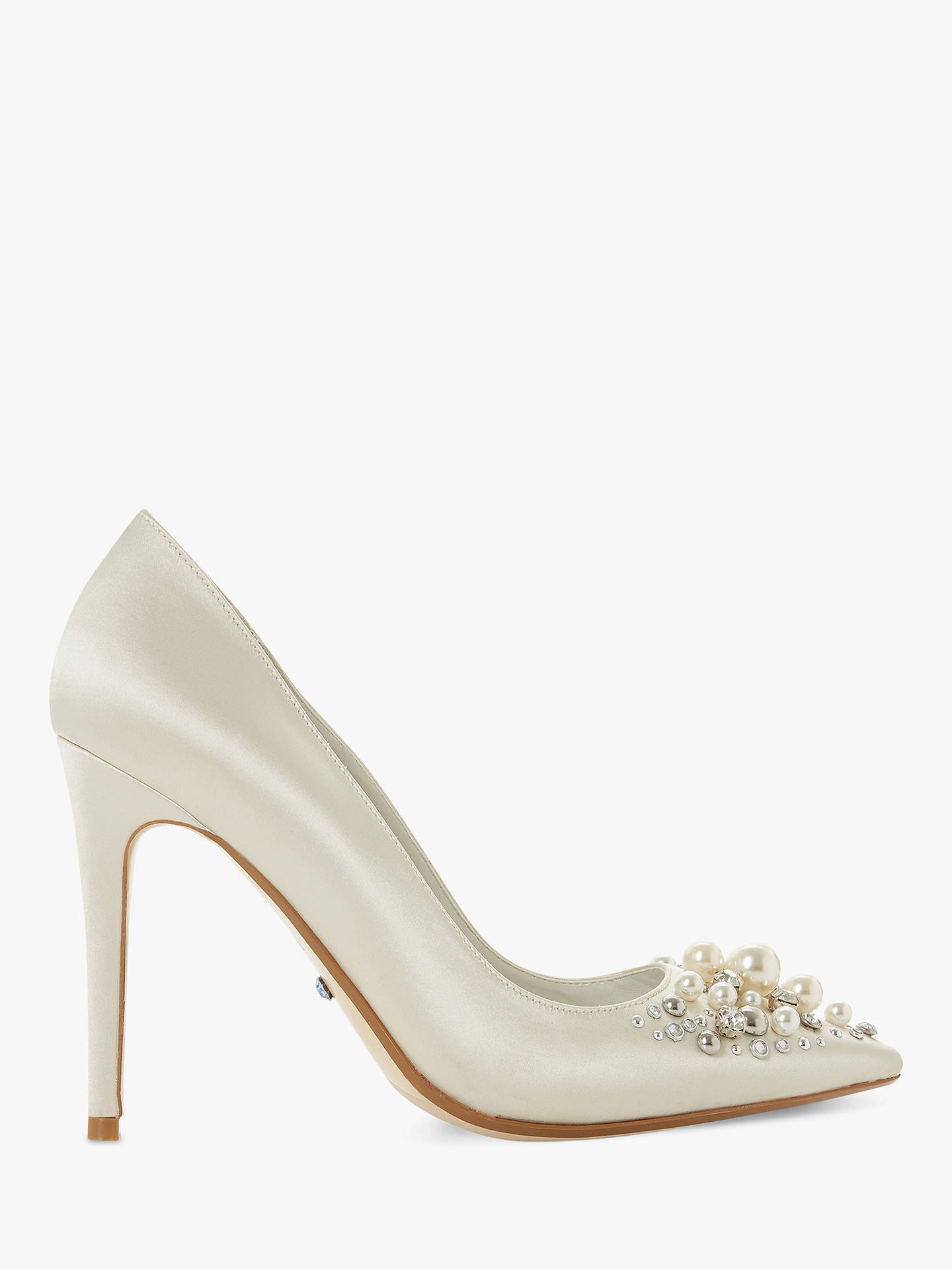 a350face7dca Dune Brydal Bridal Collection Embellished Stiletto Heel Court Shoes ...