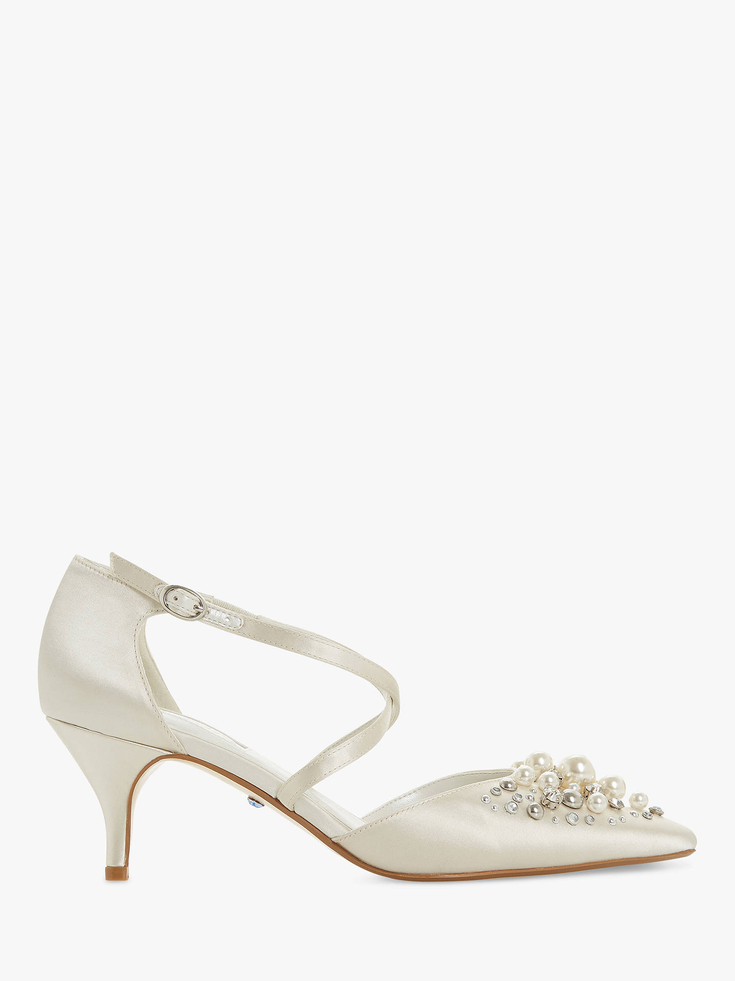 e719446293ad Buy Dune Champagne Embellished Two Part Kitten Heel Court Shoes