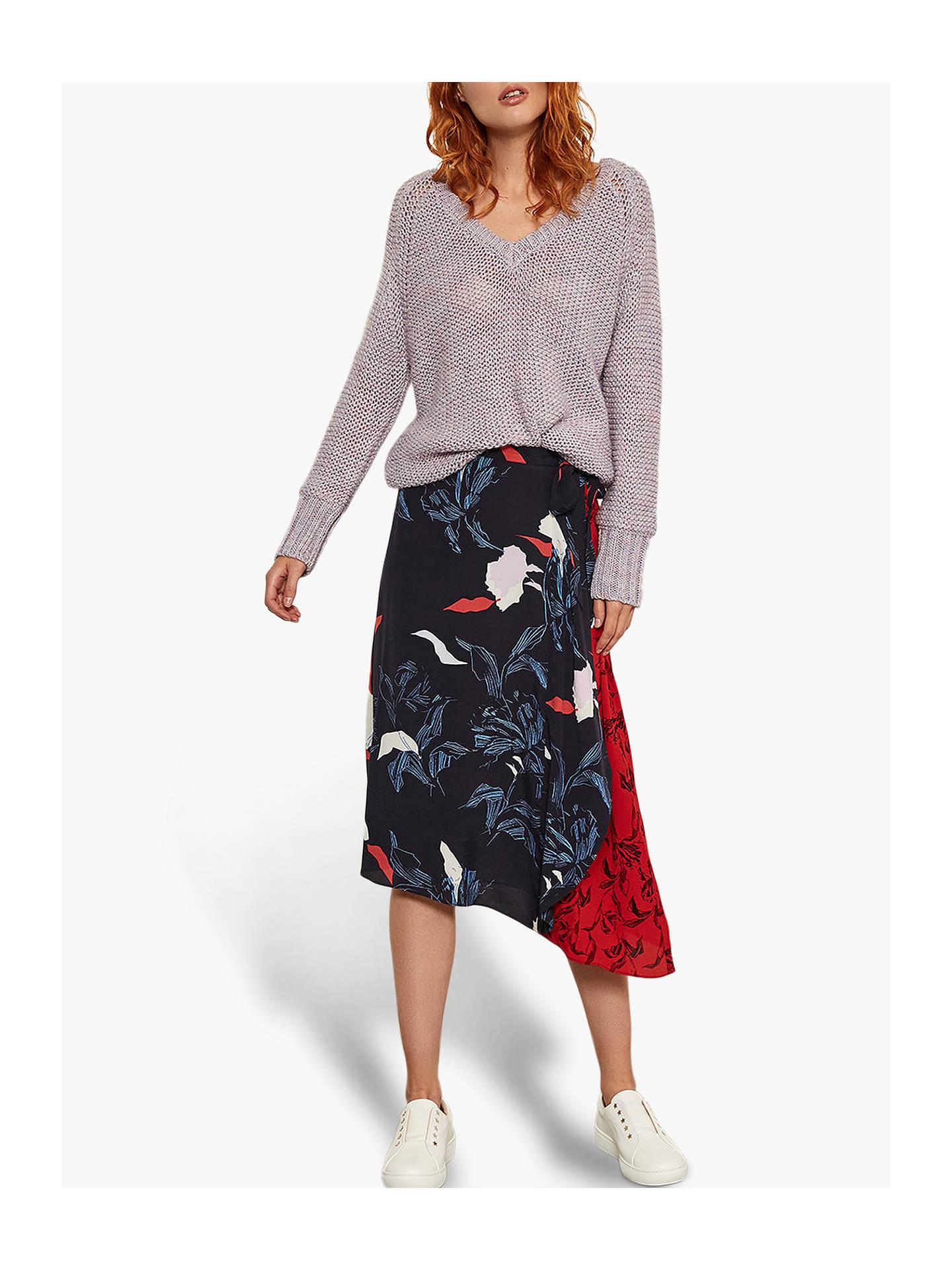 Mint Velvet Ruby Print Skirt, Multi