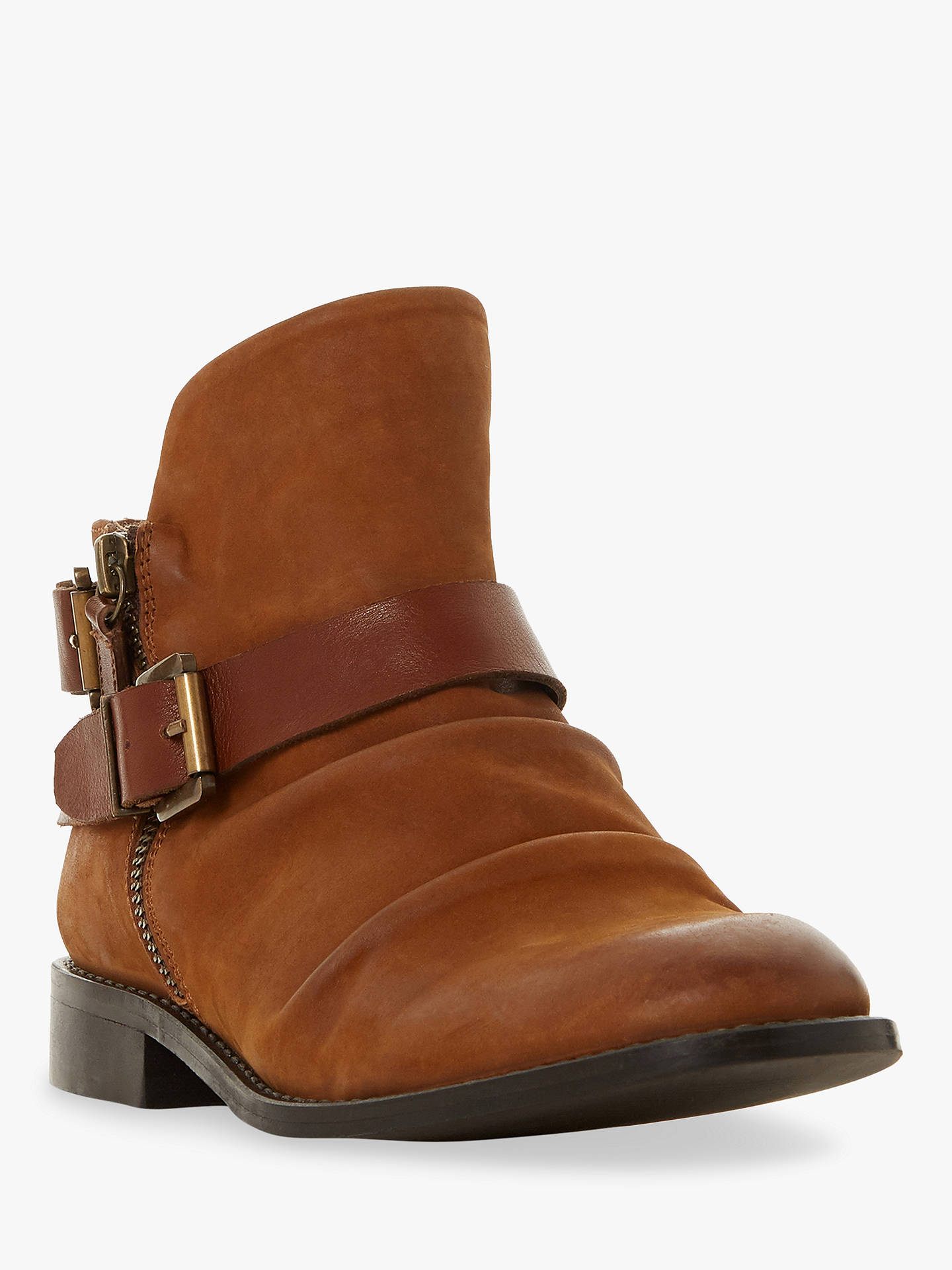 BuyBertie Ported Nubuck Buckle Detail Ankle Boots, Tan, 4 Online at johnlewis.com