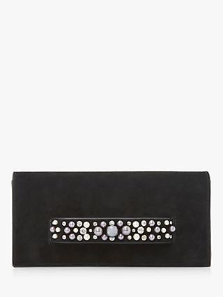 Dune Bobart Pearl Embellished Clutch Bag Black