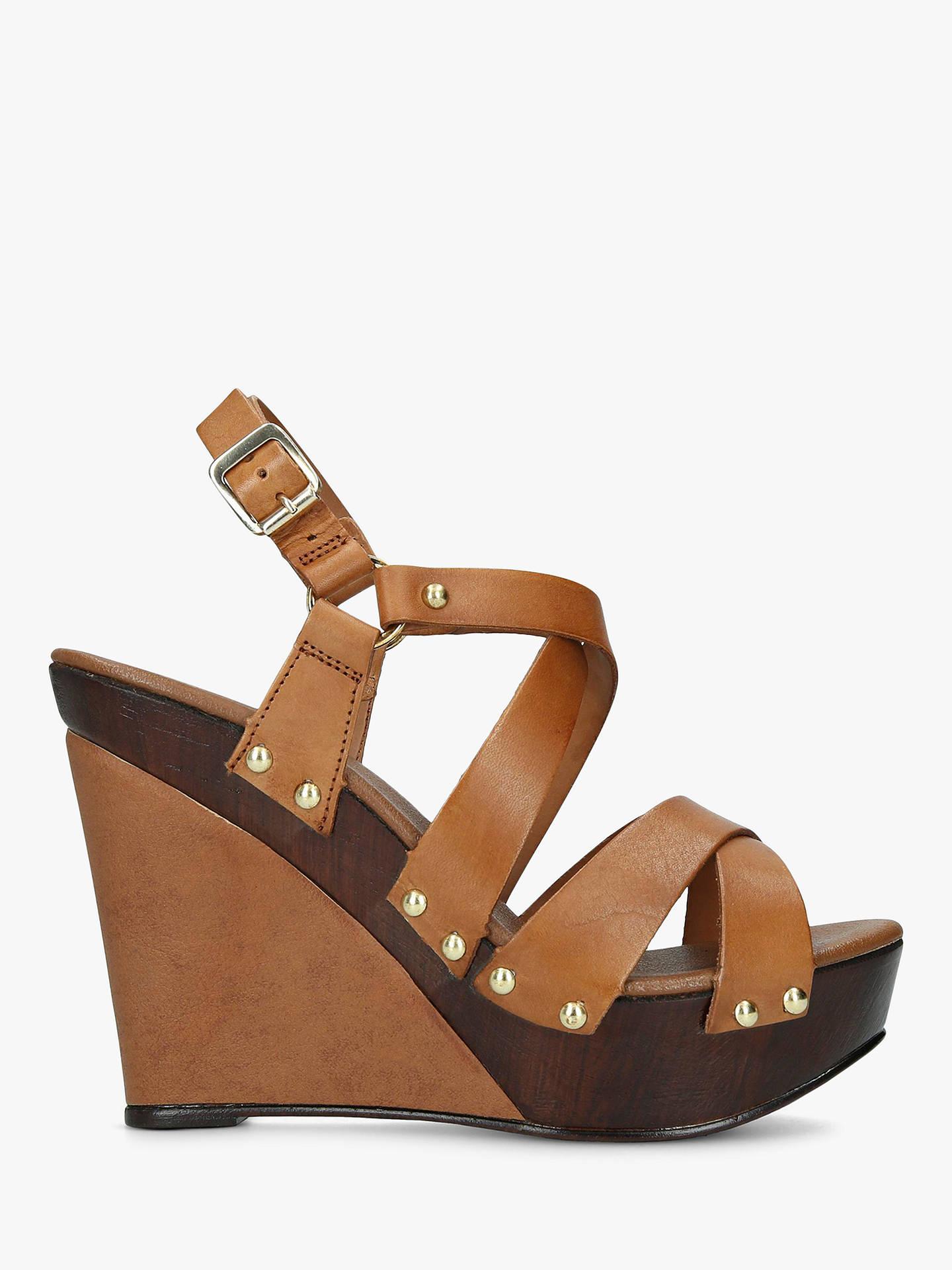 8e2d94d1b6 Buy Carvela Kassandra High Platform Sandals, Tan Leather, 3 Online at  johnlewis.com ...