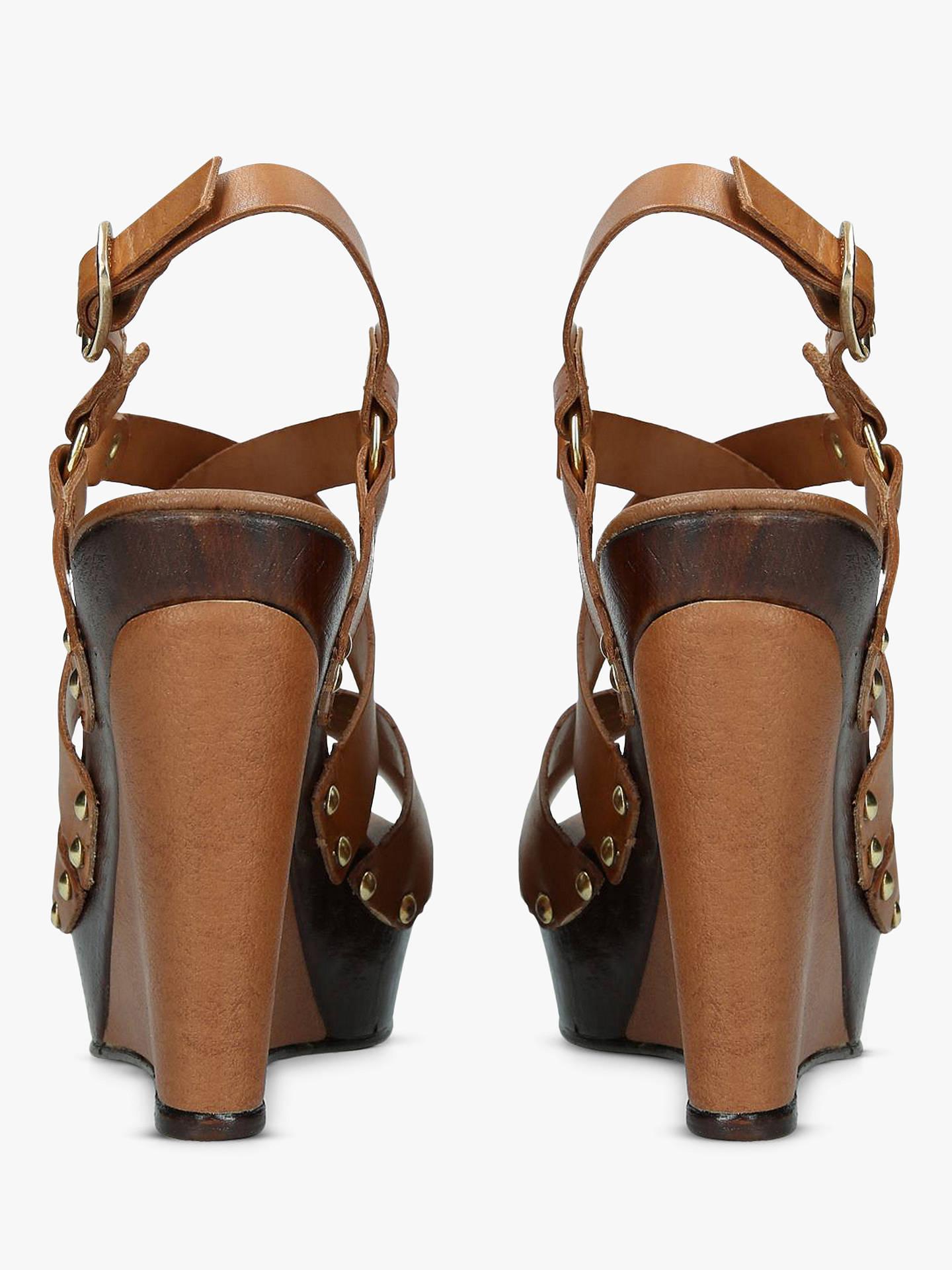 6f19666e09 ... Buy Carvela Kassandra High Platform Sandals, Tan Leather, 3 Online at  johnlewis.com