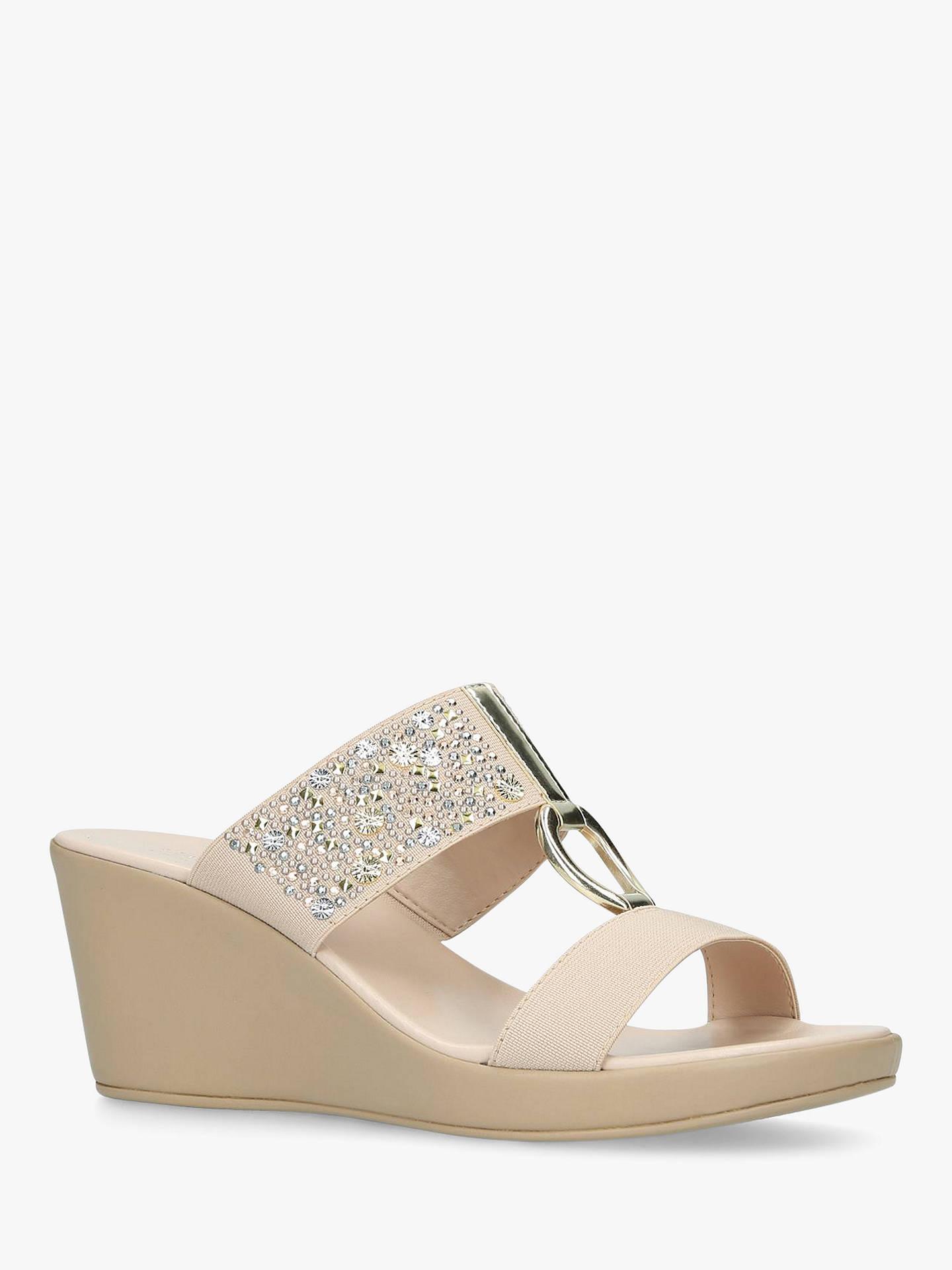 f40101ff4d049 ... Buy Carvela Comfort Salt Wedge Heel Sandals, Nude, 3 Online at  johnlewis.com ...