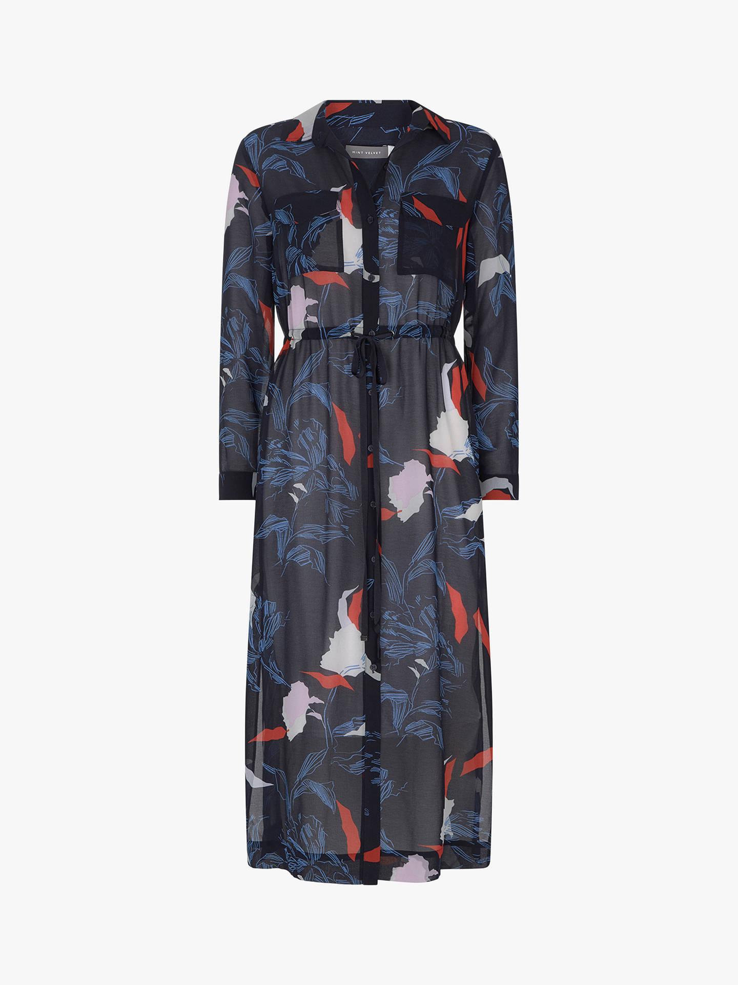 329ebf16b6d9 Buy Mint Velvet Inki Ruby Print Shirt Dress, Multi, 8 Online at johnlewis.