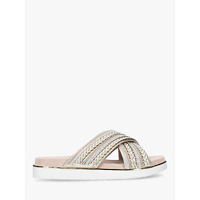 Carvela Beyond Embellished Slider Sandals, Natural Nude