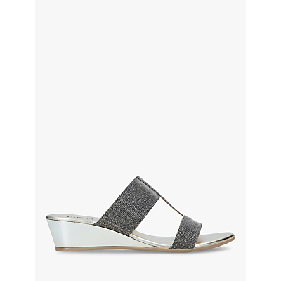 Carvela Comfort Sandrine Embellished Wedge Sandals, Grey