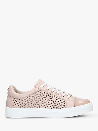 Carvela Jaxx Flatform Low Top Trainers, Nude