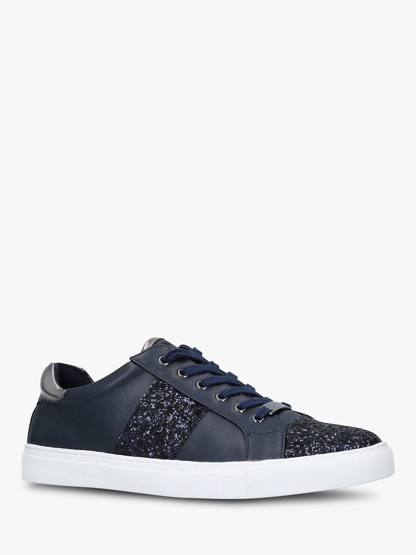 Buy Carvela Jumping Lace Up Trainers, Navy, 6 Online at johnlewis.com