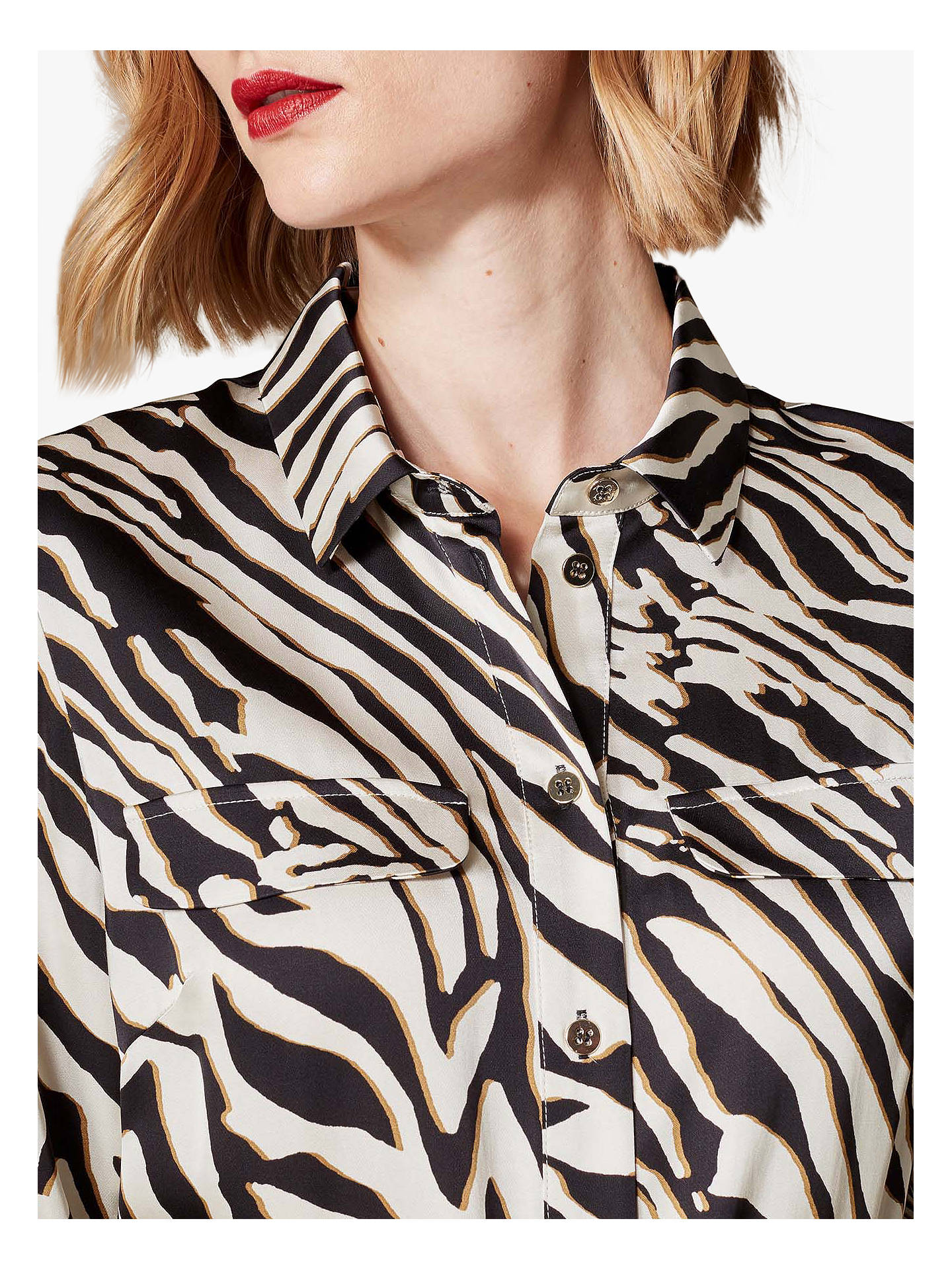 0826d569e1698d Buy Karen Millen Zebra Print Midi Shirt Dress