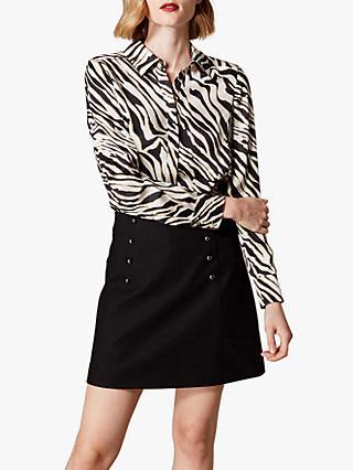 156c9adf7c7bb Karen Millen Zebra Print Shirt