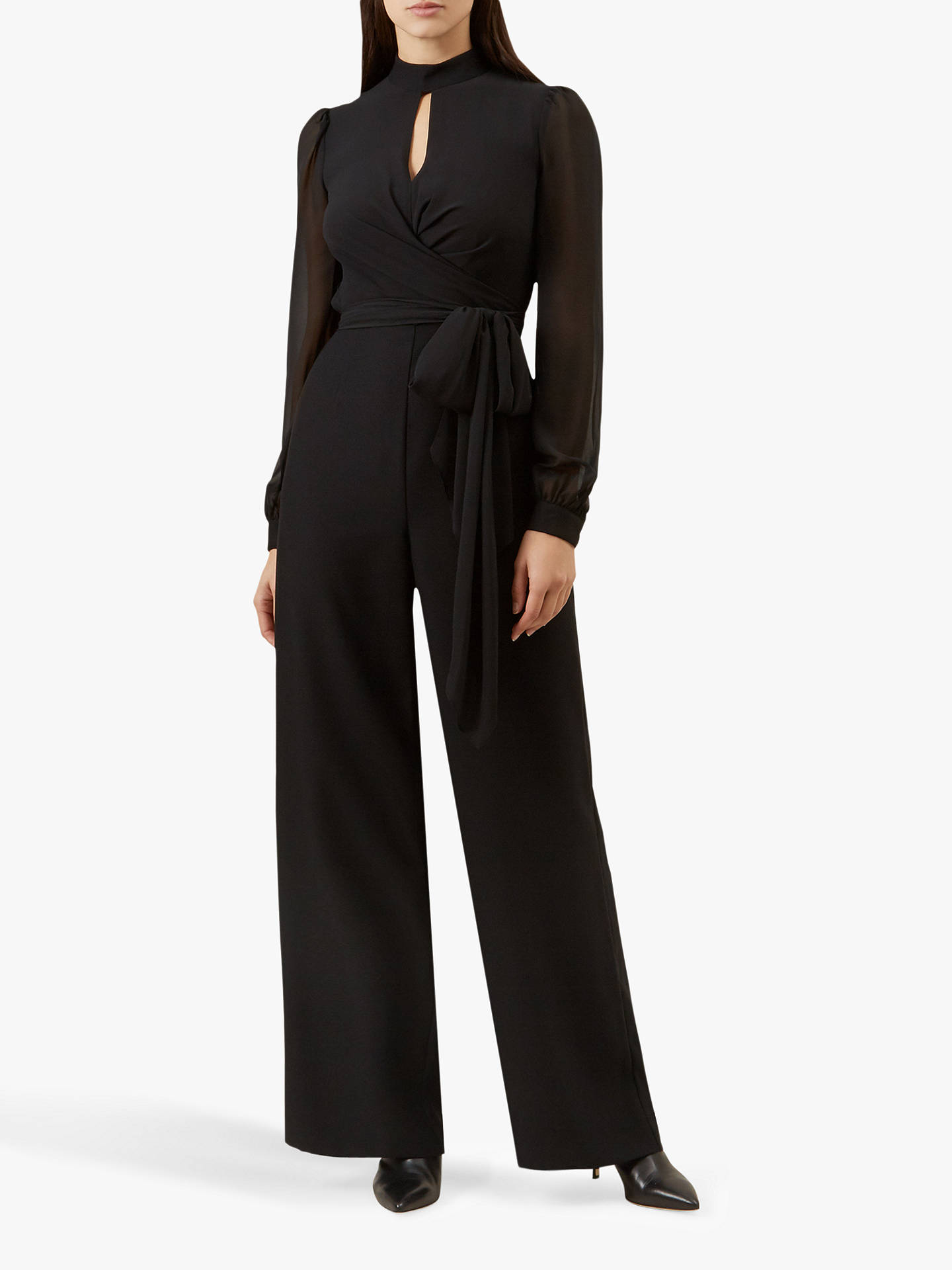 offer discounts new varieties latest style Hobbs Vera Jumpsuit, Black at John Lewis & Partners