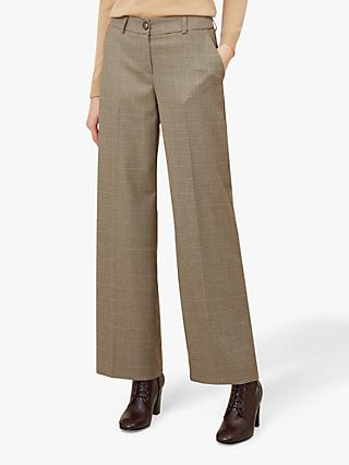 Hobbs Juliet Check Trouser, Camel/Multi