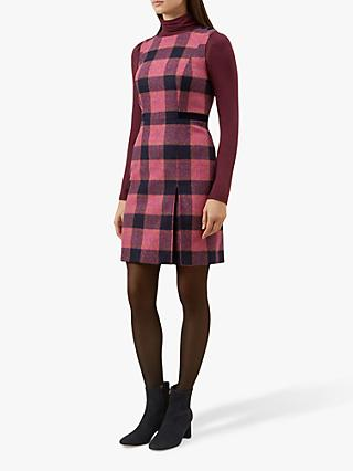 Hobbs Avery Wool Dress, Pink/Multi