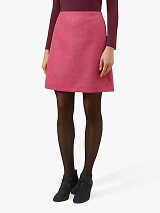 Hobbs Elea Wool Mini Skirt, Pink
