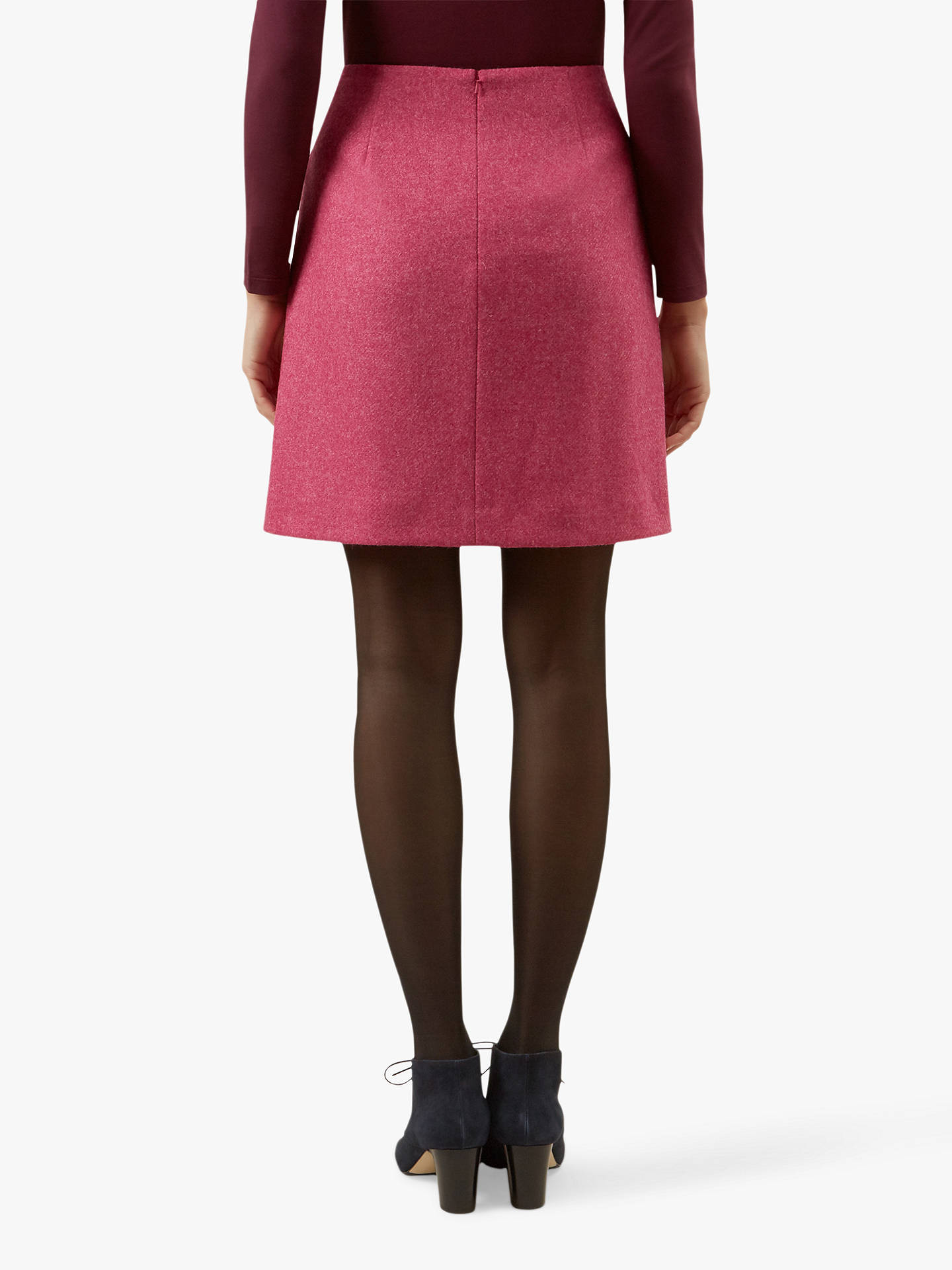 Buy Hobbs Elea Wool Mini Skirt, Pink, 10 Online at johnlewis.com