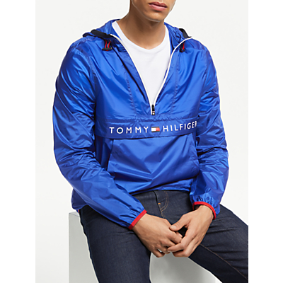Tommy Hilfiger Ultra Light Packable Anorak, Blue Quartz
