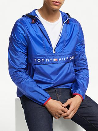 Tommy Hilfiger Ultra Light Packable Anorak, Blue Quartz