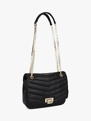Jaeger Elena Quilted Chain Strap Bag, Black