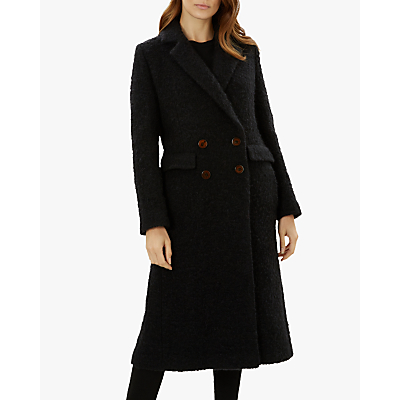 Image of Jaeger Textured Boucle Coat, Black
