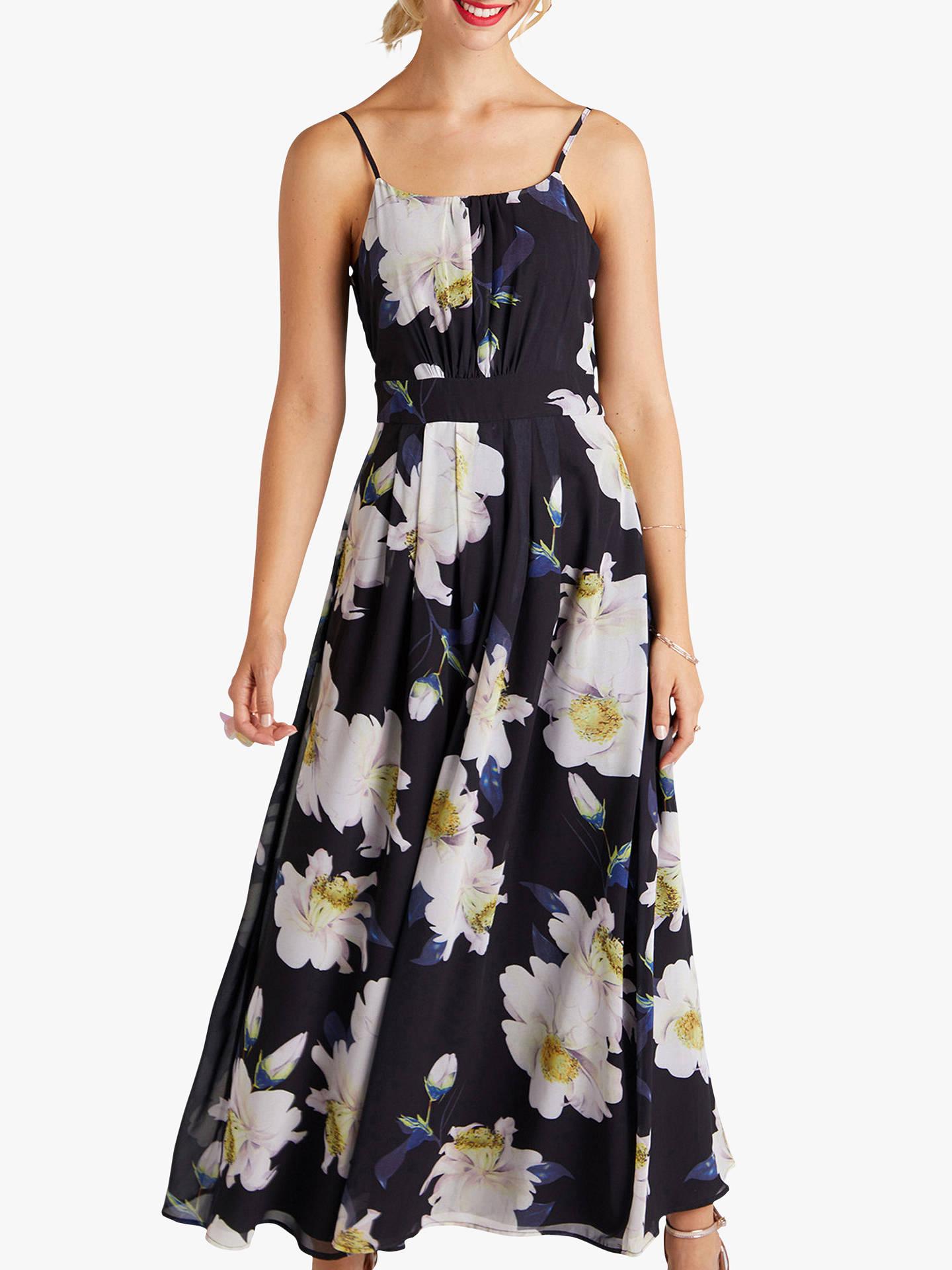 9c5d1b5fede24 Yumi Floral Maxi Dress, Black