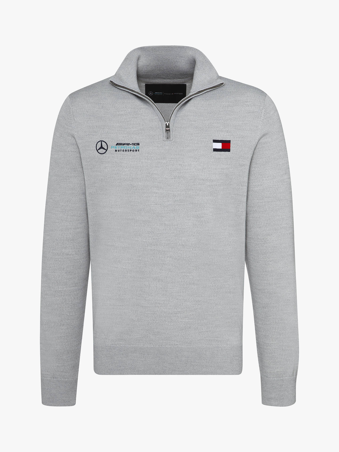 ae414dae6 Buy Tommy Hilfiger Mercedes Logo Zip Jumper, Cloud Heather, S Online at  johnlewis.