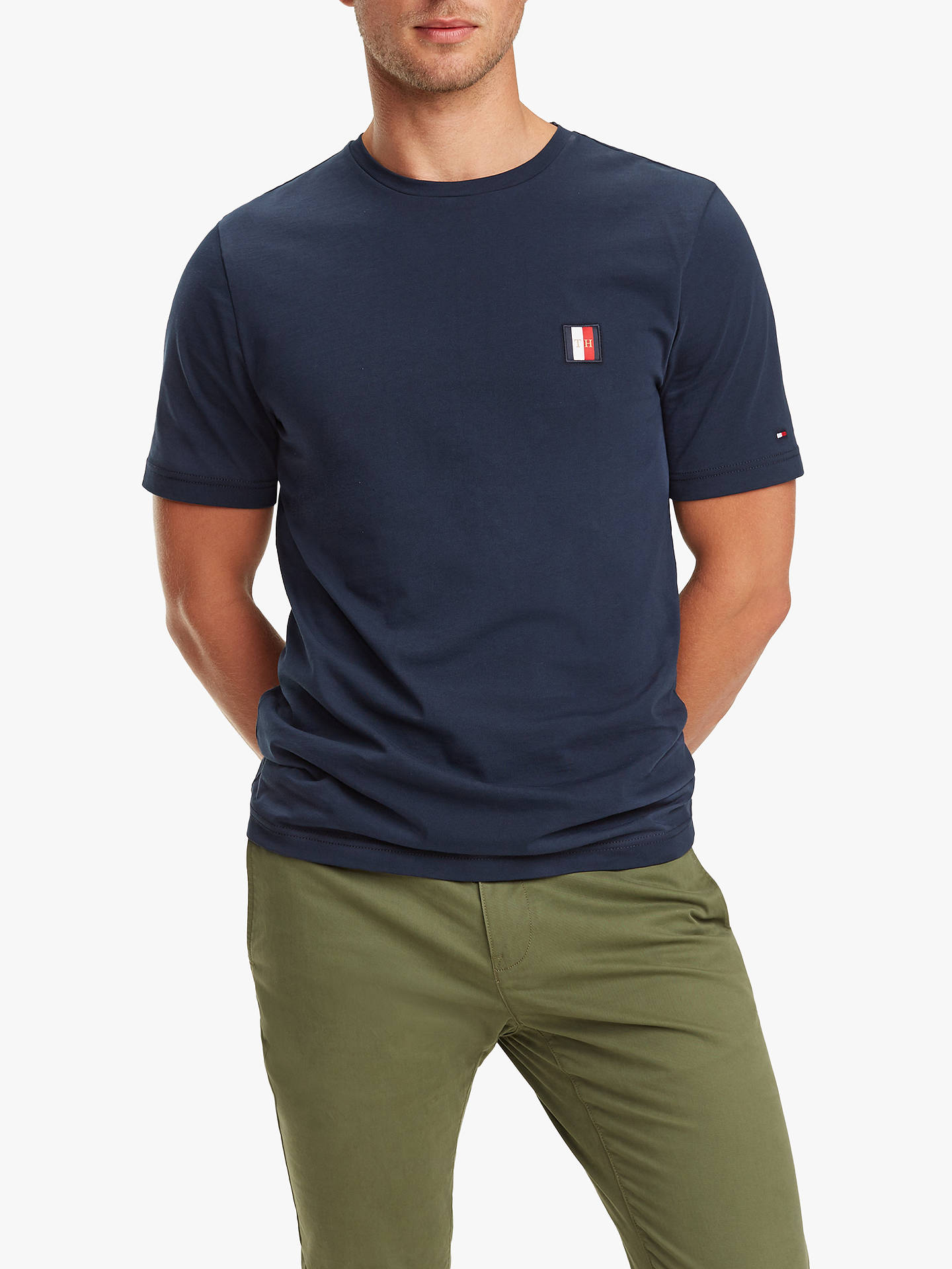 Tommy Hilfiger Icon Woven Label T Shirt at John Lewis & Partners