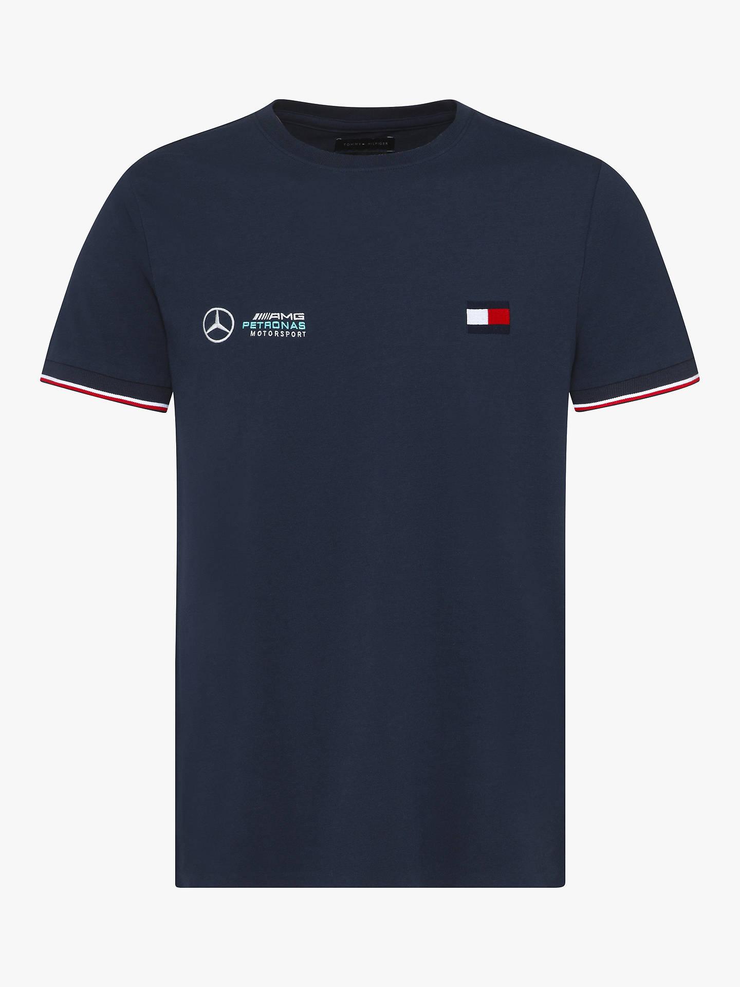 7e9353fd Buy Tommy Hilfiger Mercedes Crew Neck T-Shirt, Sky Captain, S Online at ...