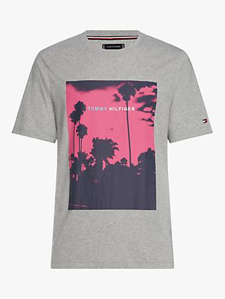 68175a16 Tommy Hilfiger Palm Photo T-Shirt, Cloud Heather