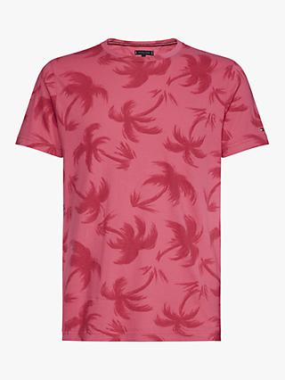 a1fb4098 Tommy Hilfiger Tonal Palm Garment Dye T-Shirt, Lilac Rose