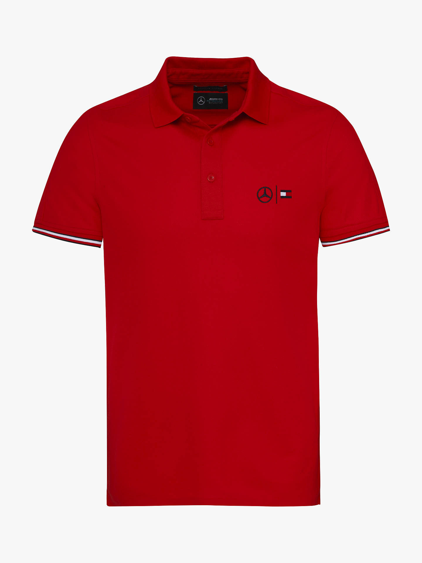 f7fd2003c Buy Tommy Hilfiger Mercedes Polo Shirt, Haute Red, S Online at  johnlewis.com ...