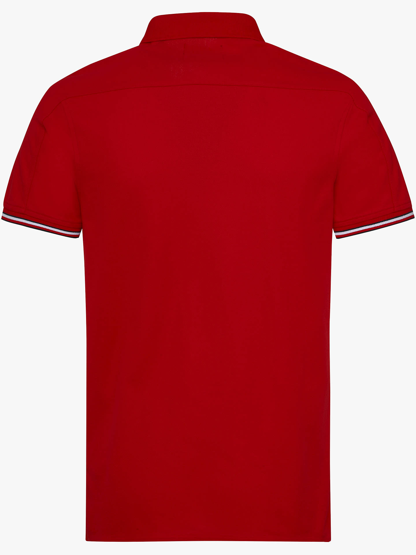 Tommy Hilfiger Red Cotton Polo T Shirt Dress S 100% Cotton