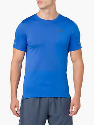 ASICS Seamless Short Sleeve Running T-Shirt, Blue